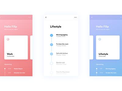 Mobile Task App gradient rose blue principle ux animation gif design task mobile app motion