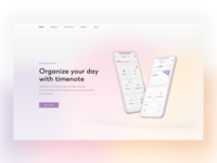 TimeNote - landing page