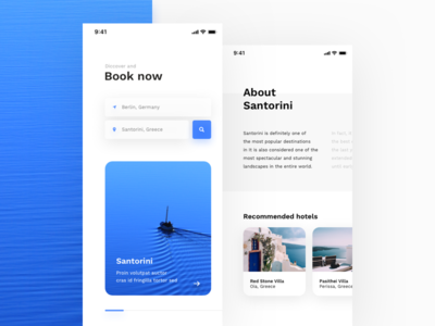 Travel App location gray photo minimal clean cards booking shadow blue mobile app travel