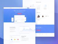 Statistics App Landing Page