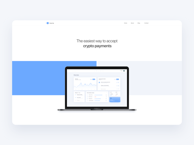 Crypto Payments Website digital dashboard typography logo application shadow round white ux colors minimal ui blue gradient app design clean wallet exchange crypto currency