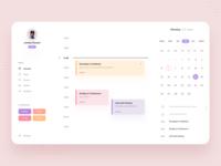 TimeNote Desktop App - Calendar
