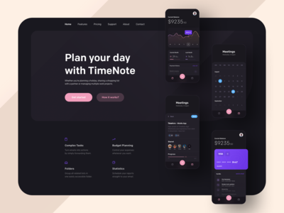 TimeNote - Landing Page 🌙