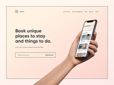 Landing Page colors mobile ux minimal gradient ui digital app design clean landing page