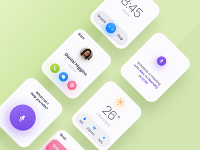 Watch Screens application round mobile gradient minimal colors ui ux watchos app green clean watch