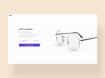 Eyeglasses Configurator ux minimal digital ui app design landingpage store design simple white clean shop store glasses configurator