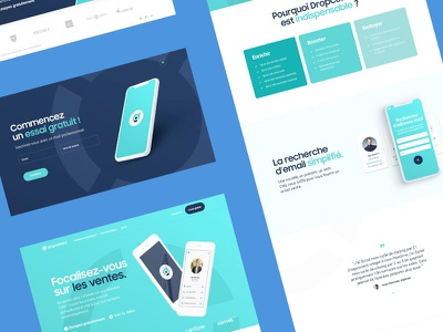 Redesign of the landing page and the identity for dropcontact logo color ui landing page brand design branding