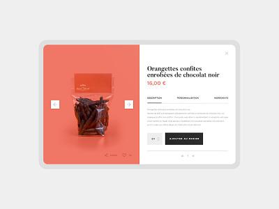 ALRA website : Product Page splitscreen chocolate user interface brand website typography desktop ux design branding ui
