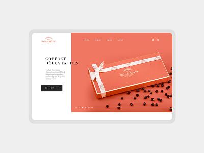 ALRA website : Homepage chocolate homepage user inteface brand design ux design website typography brand branding ui