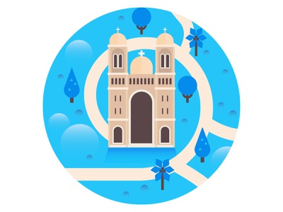 Monuments flat project. illustrator vector map flat illustration flatdesign flat illustration