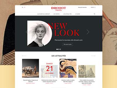 DROUOT.com - Homepage drouot brand desktop ux ui homepage