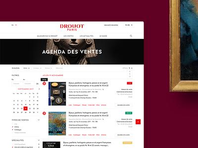 DROUOT.com - website ux ui desktop website drouot