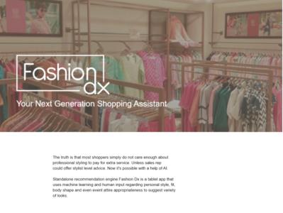 Fashion DX - shopping assistant - tablet app design design app