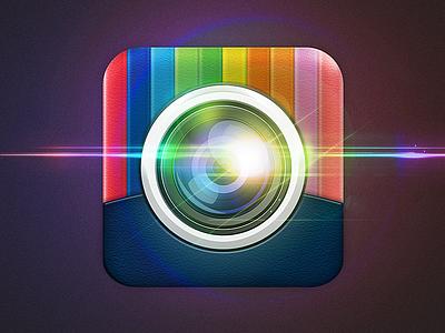 iOS App icon ios icon camera apple photo