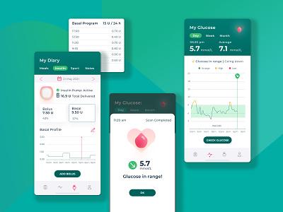 Diabetes Control Application medical app healthcare glucose insulin diabetes dairy