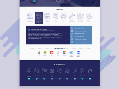 Software Company Homepage clean service icons violet software company progress technology icons icons design homepage website design website