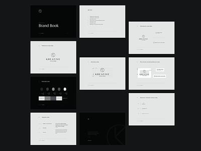 Kreative Atelier website typography ux branding logo ui design web voila