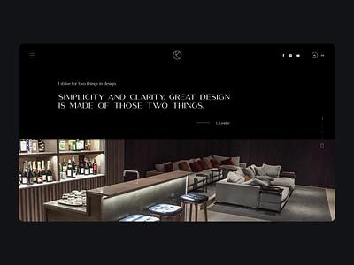 Kreative Atelier branding logo webdesign ux dark voilastudio design ui web voila