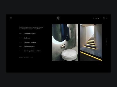 Kreative Atelier ux webdesign dark typography branding logo design ui web voila