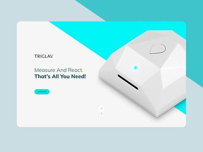 Triglav app ux ui smart home smarthome minimal landing webdesign web voila