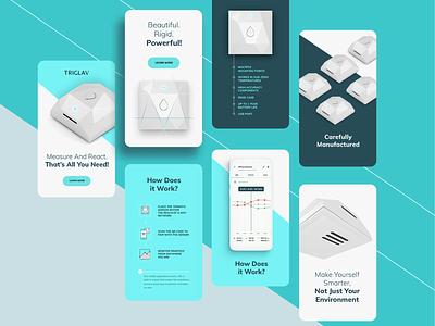 Triglav app design landing minimal voila smarthome responsive rwd app