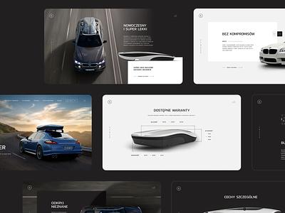 Bolee luxury modern roof boxes roof web ecommerce landing minimal webdesign dark cars