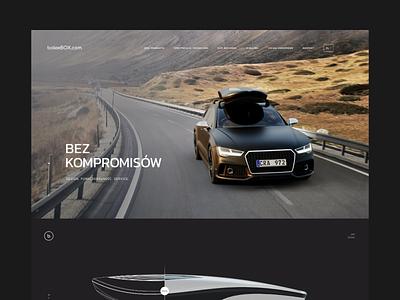 bolee sport luxury ux ui black webdesign web dark cars
