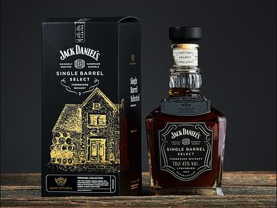 Limited Packaging Design for Jack Daniels Whisky package whiskey jack alcohol gold black dark packing bottle whisky jack daniels
