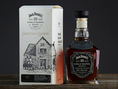 Limited Packaging Design for Jack Daniels Whisky package christmas dark alcohol box branding jack daniels jack whiskey whisky voila