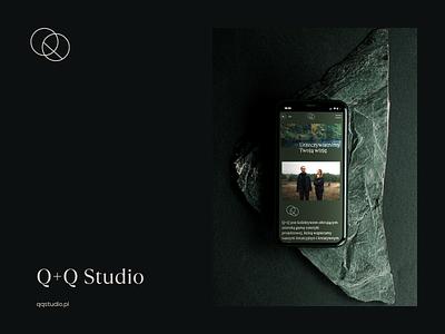 Q+Q Studio website branbook branding 3d photography iphone webdesign interior luxury dark print ux ui qqstudio