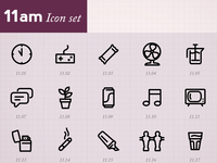 Minimal Icons by hour (11am)