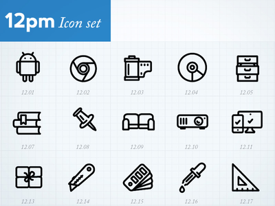 Minimal Icons by hour (12pm) minimal vector icons pictograms icons by hour symbols illustrator