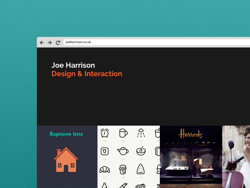 joeharrison.co.uk 2014 - New Site Design minimal responsive website redesign portfolio 2014
