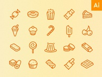 Icons by Hour - 2pm (Sweet Treats)