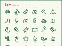 Camping icons large