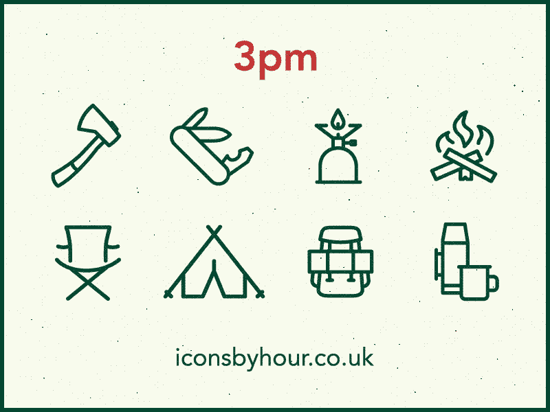 Camping icons dribbble4