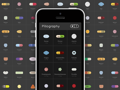 New Project: Pillography pillography pills medicine tablets svg responsive flat illustration branding pharmaceuticals