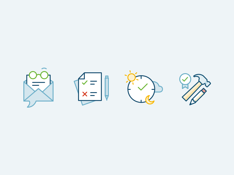 Dribbble timecounts icons