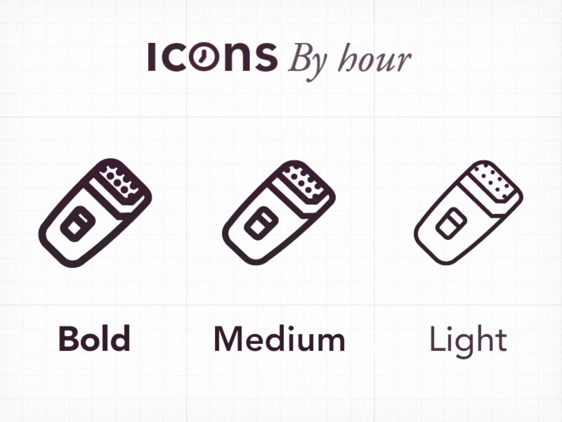 Iconsbyhour weights