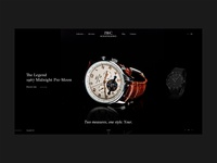 IWC watches e-commerce homepage