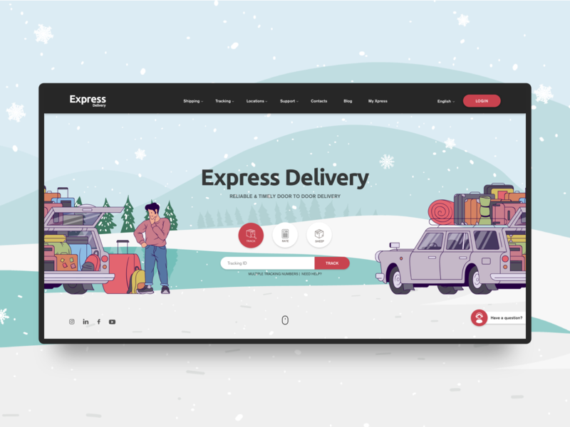 Express Delivery user experience user interface branding design illustration typography uxui homepage ux website ui web webdesign