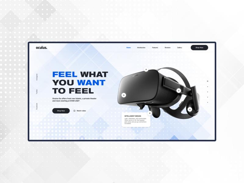 oculus vr homepage user experience user inteface oculus vr branding typography uxui homepage website ux ui design web webdesign