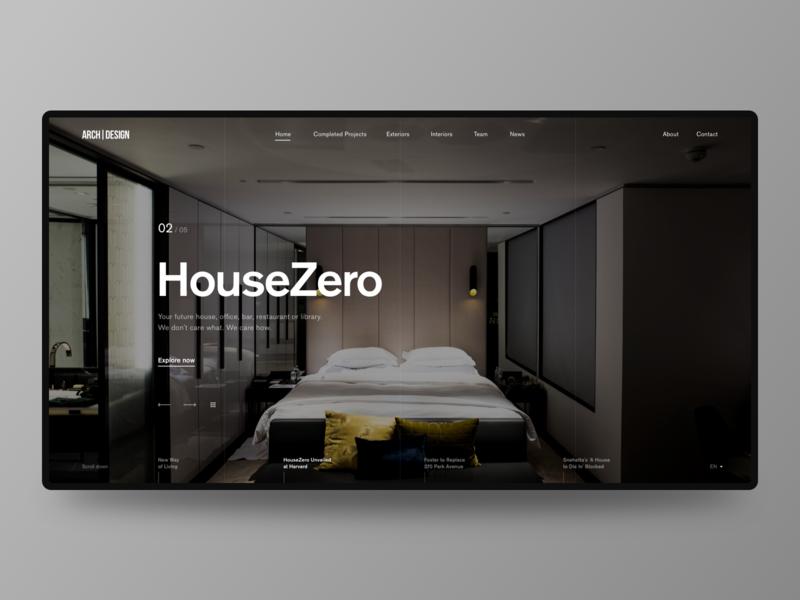 Homepage Design for Design Studio typography homepage uxui website web ux ui minimal webdesign