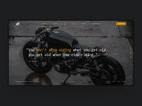 Honda Caferacer Homepage Design