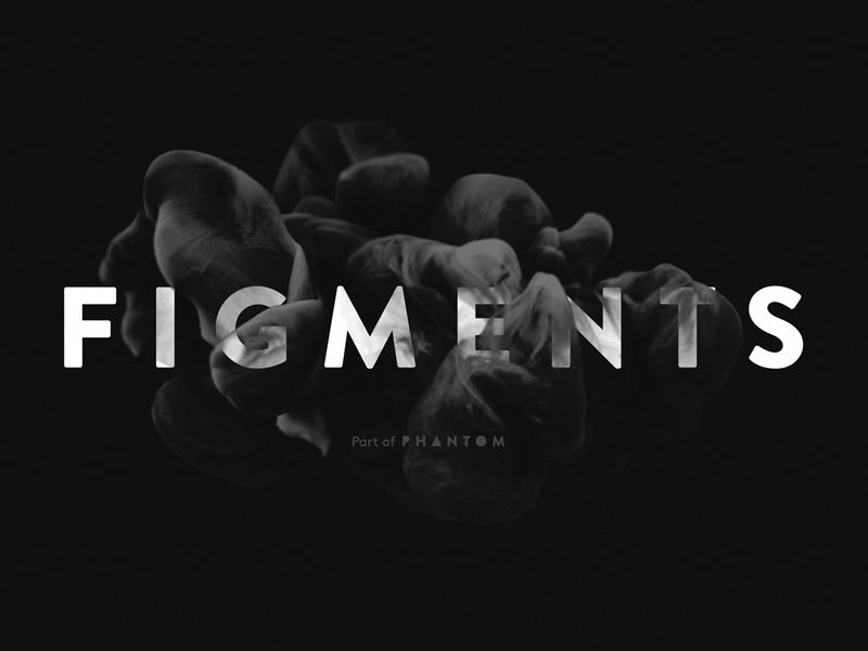 Phantom Figments phantom logo team smoke black branding