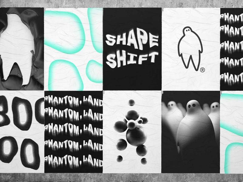 PHANTOM.LAND phantom ghost 3d stickers branding graphic print poster