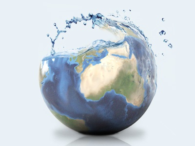 water of the earth graphic illust