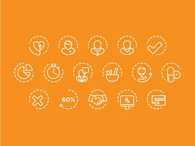 Healthcare Icons vector ui illustrator icon flat design branding