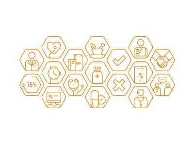 Healthcare Icons vector web ui illustrator icon flat design branding