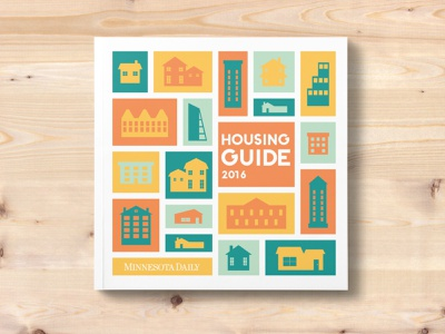 """MN Daily """"Housing Guide"""" Special Issue Cover print illustration illustrator icon design"""